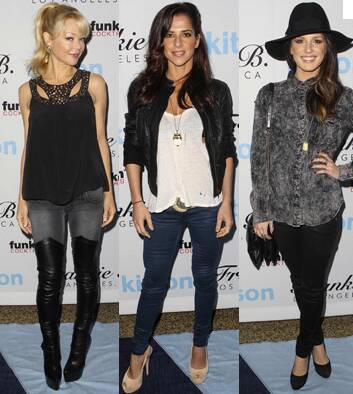 Can you identify these beautiful woman attending last weeks super cool Frankie B jeans event, sponsored by funkin at Kit...