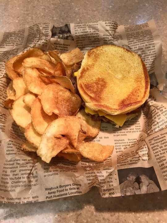 Sweet dreams are made of cheese...right? Oh! And don't forget the chips! Wayback Burgers Ashburn, VAGet this delivered t...