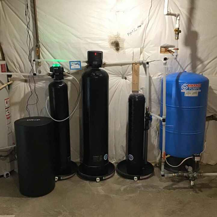 Clearion MonstR Flow Sediment Filter and Acid Neutralizer along with Drop Connect Water Softener